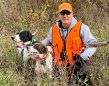 Craig McDonald of Mitchell was at Hullett Provincial Wildlife Area during a pheasant hunt in November 2020 with his two pointers, Kerry and Tango.