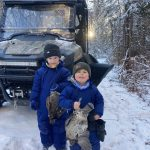Calvin Pitt of Sault Ste. Marie nabbed some bonus birds while Christmas tree hunting with his sons, Parker and Hunter.