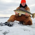Joel Eppinghaus of Red Lake caught this 29-inch walleye on Red Lake on a solo mission away from a friend's shack on the ice.