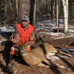 Matthew King of Peterborough had a weekend getaway with his wife and harvested this buck at a camp north of Madoc during the muzzleloader season.