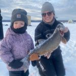 Ali Kuczynski of Manitouwadge caught this eight-pound laker on Pagwachuan Lake while fishing with family, including her two-and-a-half-year-old daughter, Everly.