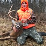 Chad Miller of Yarker submitted this photo of 14-year-old apprentice hunter Keiran Miller proudly holding his first deer. He was hunting on Amherst Island during a controlled shotgun hunt with his dad and papa.