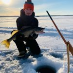 Ian Visscher of Thornbury submitted this photo of his son William, 14, who caught his personal best walleye, a 26-incher, using his favourite tip-up on Lake Nipissing.