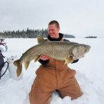 Joel Eppinghaus of Red Lake worked all night and instead of heading home to his comfy bed, hit the lake. He caught this 38 ¾-inch lake trout from a northwestern Ontario lake with a self-sustaining lake trout population approximately 100 km outside of Red Lake.