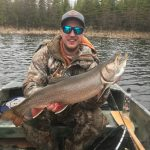 Leith Farquhar of Cochrane caught his personal best splake using a red and white spoon while fishing for splake and brookies.