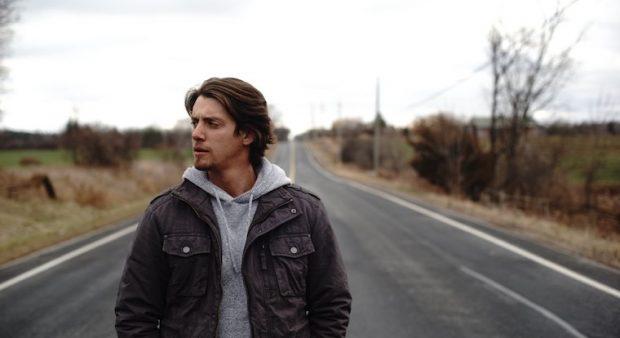 Matt Morson on an Ontario country road