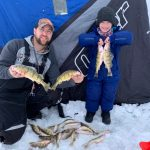Calvin Pitt of Sault Ste. Marie spent a morning with his son, Parker, catching perch on Lake Superior.