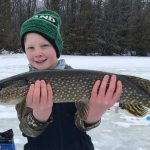 On a great day for ice fishing, Colin Kenny of Walkerton and his son, Colton, caught some nice pike while jigging with a Williams spoon on a small, unnamed lake outside of town.