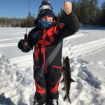 Elizabeth McRae of Whitney shared this photo of her daughter Madeline, 11, who caught her first lake trout on Valentine's Day while ice fishing with her family north of Whitney.
