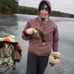 Leah Manners of Lanark County snagged some gorgeous crappie while ice fishing on Bennetts Lake. Her presentation of choice for crappie is minnows.