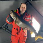 While fishing Rideau Lake near Perth, Martin McKittrick of Carleton Place caught and released this lake trout that he said put up a remarkable fight.