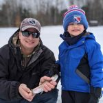 Mike Kroetsch of Kitchener and his son Jordan enjoy fishing the stocked pond at their local rod and gun club using a combo of minnows and worms. The younger angler had just began fishing the year prior, and is now hooked on the pursuit, whether on land or ice.
