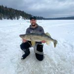 While his son Alex was visiting from Chapleau, Philippe Vizier of Marathon snapped this photo of his son holding a healthy 30-inch walleye he then released. It was a memorable day because it was the first time the two have been reunited since lockdown.