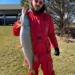 While fishing from Fifty Point Marina this past March, Max Guy of Lynden caught his personal best pike weighing eight-pounds.