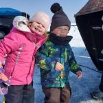 The first ice-fishing trip of the season for Mike Anderson of Caledonia and his kids wasn't loaded with fish, but they still had a great day fishing and skating on the Lake Erie. Can you spot Lochlan's first perch?