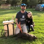 This past April, Derek Gillard of Finch and his daughter Abigail trapped this 50-pound beaver.