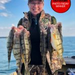 Photo Friday winner, Lisa Tadgell of Port Franks, caught these jumbo perch with her husband Jamie and granddaughter Jacquilyn using a hook and worms on her newfound Lake Huron hotspot.