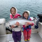 Matt Bowman of New Hamburg enjoyed family time on Lake Ontario with his daughters Sophia and Evelyn. They caught many fish this evening, but their favourite was this 18.5-pound chinook caught while downrigging with a Michigan stinger spoon.
