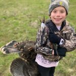 Shane Wood of Omemee snapped this opening day pic of his 10-year-old daughter, Ellyot, enjoying her first successful spring turkey hunt with her dad. She was excited to use the turkey sling that her twin sister, Kenley, made for the family to use this season.