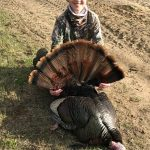 Thirteen-year-old apprentice hunter, Tyler Elliott of Pembroke, shot his first gobbler this spring accompanied by his family friend, Nick Yashinskie. The bird came right up to the blind and was shot at only seven yards, adding more excitement to the hunt.