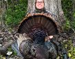 Steve Atkinson of Sparta harvested his personal best tom while hunting with his son Ethan. He called the bird in from 120 yards across a corn field without a single peep from the gobbler.