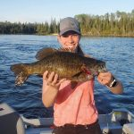 While fishing for walleye with her husband in northern Ontario, Leah McLean of Cobalt caught and released the biggest smallmouth she had ever seen.