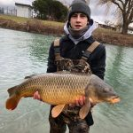 Sarnia angler Nathan Hawkes landed this 28-pound carp from a small creek running out of the St. Clair River just using corn on a hook.