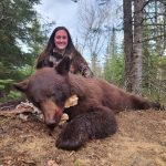 Sioux Lookout hunter Tiana Korobanik harvested this cinnamon bear just a few minutes after getting settled into her stand. It was the first bear she harvested with an Excalibur crossbow.