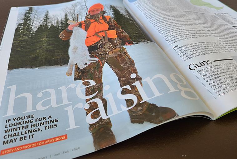 Photo of Hare raising magazine feature