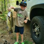Avid angler Chase Morrow of Cloyne proudly presents the 3.5-pound smallmouth bass he caught last July all by himself using only a hook and a worm. The six-year-old grinned ear to ear as his father, Adam, took a photo.