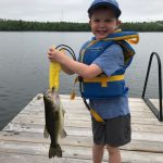 Brandon Vingerhoeds of Kenora sent in this photo of his son Sully, who caught his first fish of the year while fishing from the dock on Rabbit Lake near Kenora using a weedless frog.