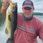 Brock Rochus of Toronto landed this largie on a Ned Rig while backcountry fishing in Restoule Provincial Park.