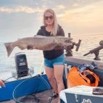 Brittany Pouliot of London caught this salmon on her annual fishing trip to Port Hope in August.