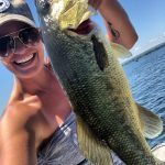Hailey Meens of Belleville was fishing on Hay Bay on a hot day, but the fish were comin' in even hotter! Total catch and release count was 25.