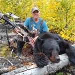 John Jones of Kingsville with his spot-and-stalk black bear harvested in WMU 4 in fall 2020.
