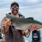 Jordan Steel of London caught this salmon during an annual fishing trip to Port Hope.