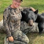 Lisa Tadgell of Port Franks harvested her target mature boar using a Remington 700 chambered in 243 using The Sugar Addict bait. Lisa loves providing food for the table, and thanked Warren Reinke from Horwood Lake Lodge for introducing her to black bear hunting.