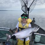 Steve Servinis of Markham was late-season salmon fishing on Lake Ontario with his son, Matthew, who reeled this in all by himself.