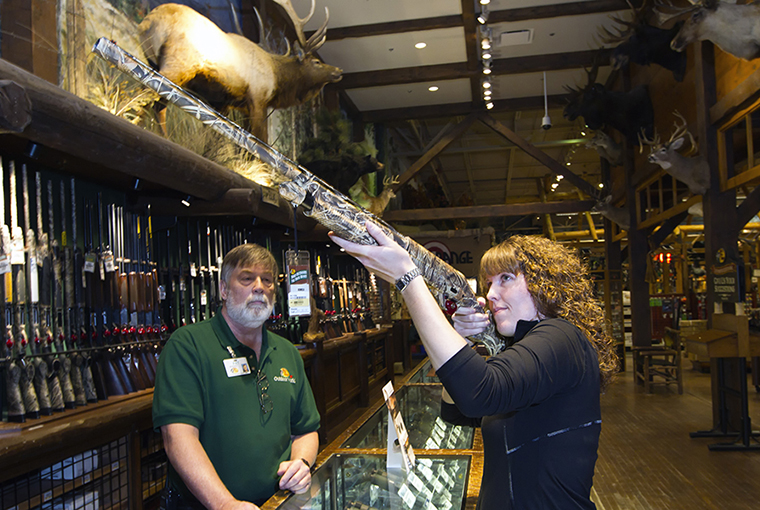 Laura Myers shops at Bass Pro Shops.
